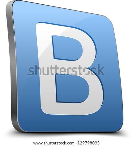 Blog button - stock photo