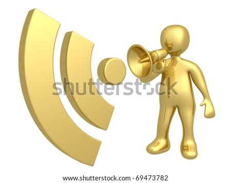 Blog Communication - stock photo