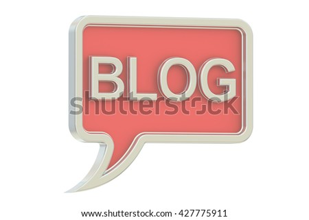 Blog concept, 3D rendering isolated on white background