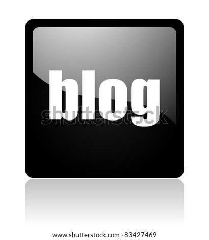 blog icon - stock photo