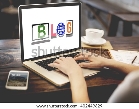 Blog Social Media Article Word Style Concept - stock photo