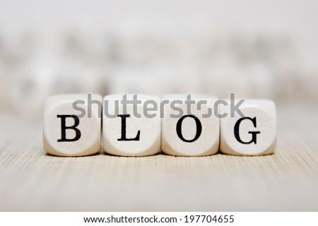 blog word concept - stock photo
