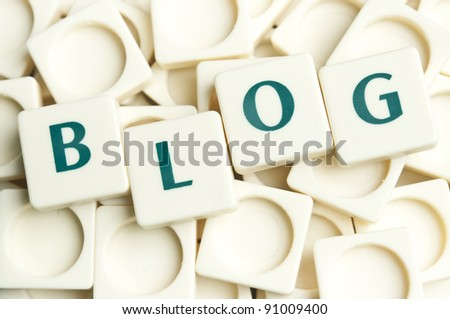 Blog word made by leter pieces