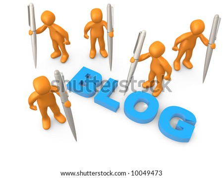 Bloggers - stock photo