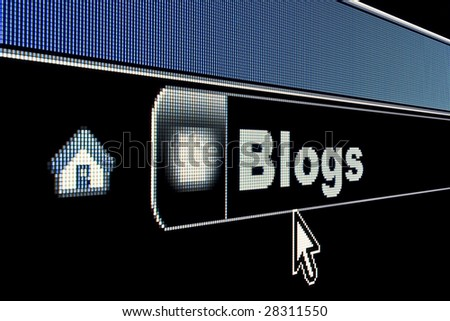 Blogs concept on an internet browser URL address - stock photo