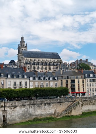 Blois Cathedral, Loire Valley, France - stock photo