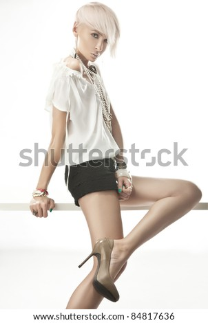 Blond beauty - stock photo