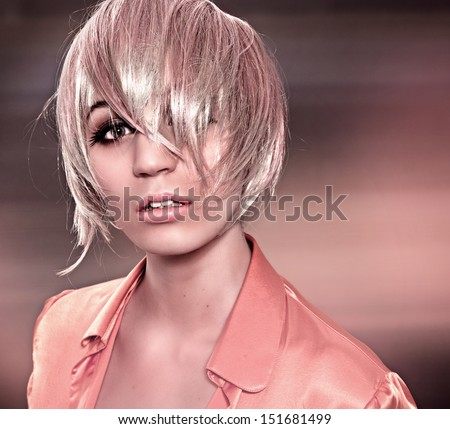 blond fever - stock photo