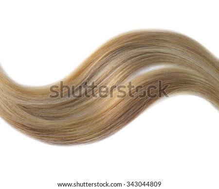 Blond hair isolated on white