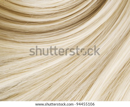 Blond Hair Texture - stock photo