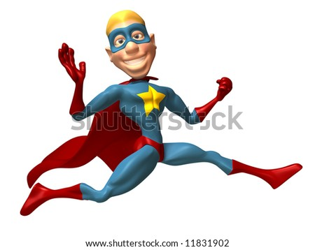 Blond superhero