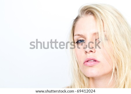 blond woman - stock photo