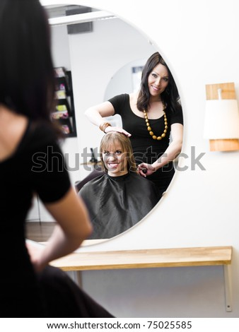 Blond woman at the Hair Salon