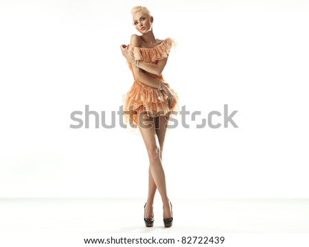 Blonde beauty - stock photo