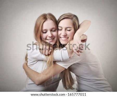 Blonde Friends - stock photo