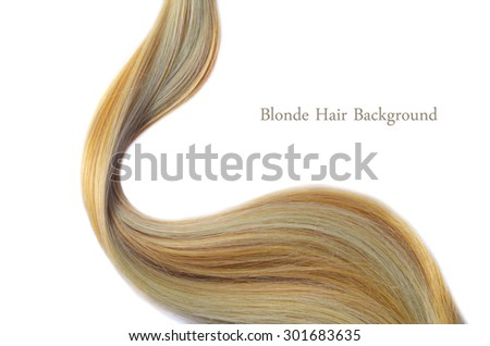 Blonde Hair Background - stock photo