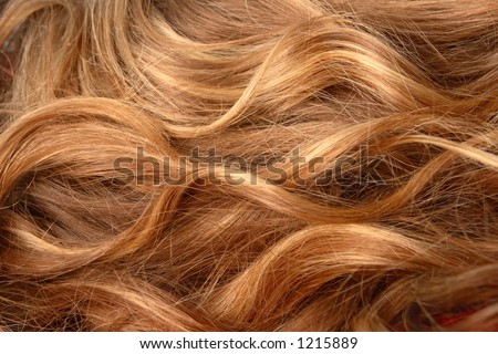 Blonde Hair background texture. - stock photo