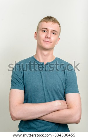 Blonde man - stock photo
