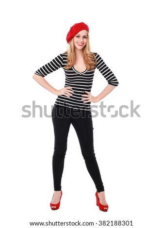 French Beret Stock Images, Royalty-Free Images & Vectors ...