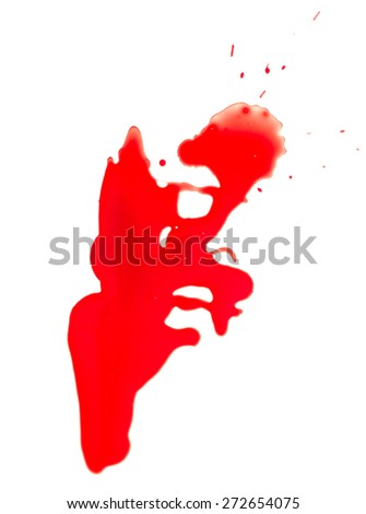 Blood drip on a white background