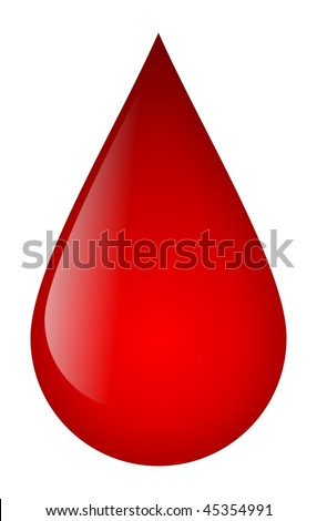 Blood Drop - stock photo