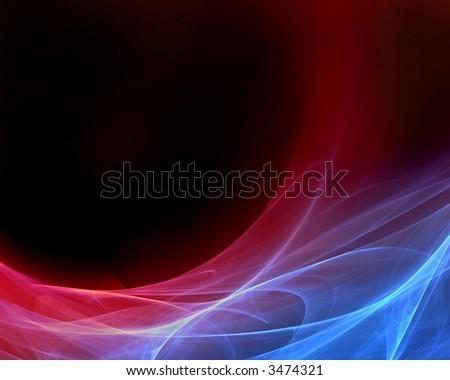blood fractal design - stock photo
