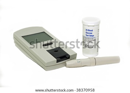Blood glucose meter used to check blood sugar levels in diabetics