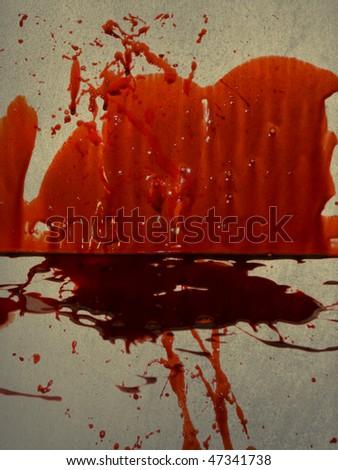 Blood Grungy Background - stock photo