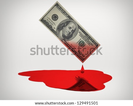 Blood Money - stock photo