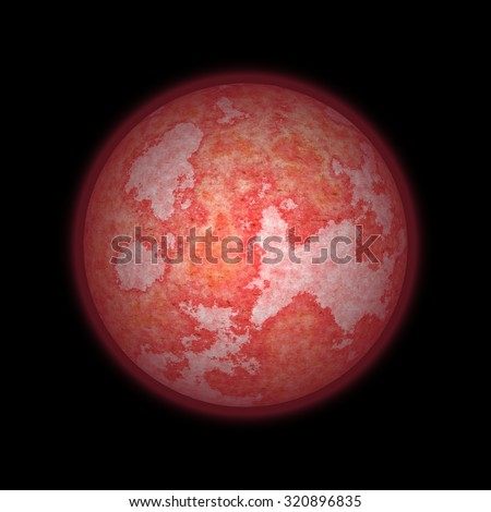 Blood Moon lunar eclipse supermoon or apocalyptic moon background - stock photo