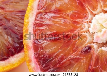 blood orange closeup - stock photo