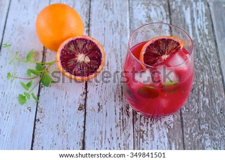 Blood orange cocktail - stock photo
