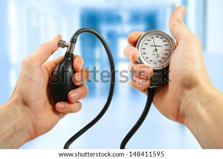 blood pressure check - stock photo