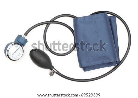 Blood pressure cuff,isolated on white. .... - stock photo