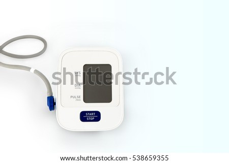 Blood pressure engine with stethoscope, Process gradient background and space for text