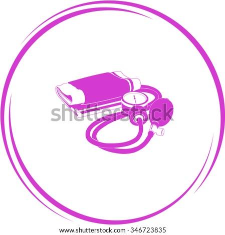 blood pressure. Internet button. Raster icon. - stock photo
