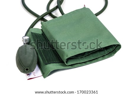 Blood-pressure isolate on white background