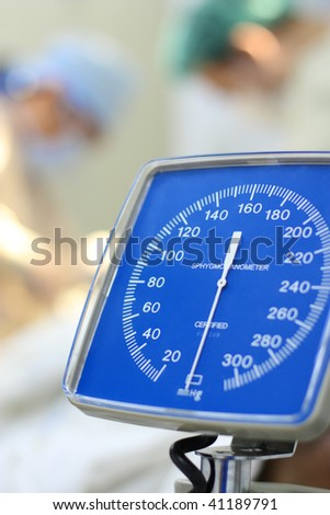 blood pressure measuring device - stock photo