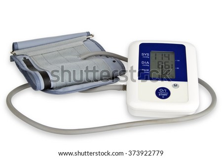 Blood pressure meter isolated on white background - stock photo