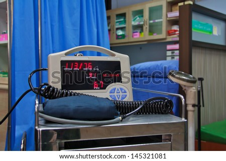 Blood pressure meter medical equipment. - stock photo
