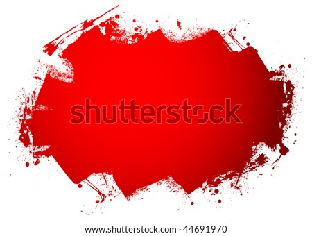 Blood red roller marks with room to add your text - stock photo