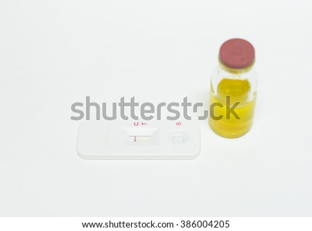 blood sample tube in laboratory testing.peritoneal fluid. - stock photo