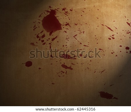 blood splashed on the carpet floor. Useful as background, especially for Halloween day - stock photo