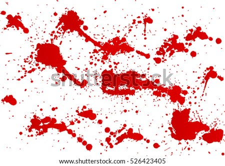 Blood splashes hand made tracing from sketch