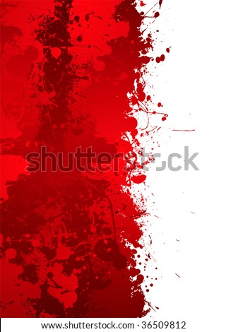 Blood splat border with red ink effect and room to add your own text - stock photo
