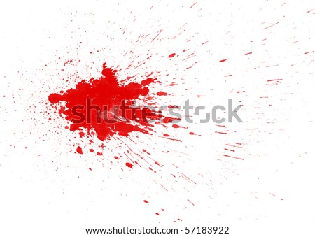 Blood stain on white background - stock photo