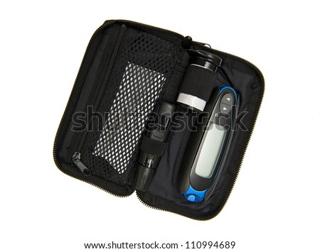Blood sugar test - stock photo