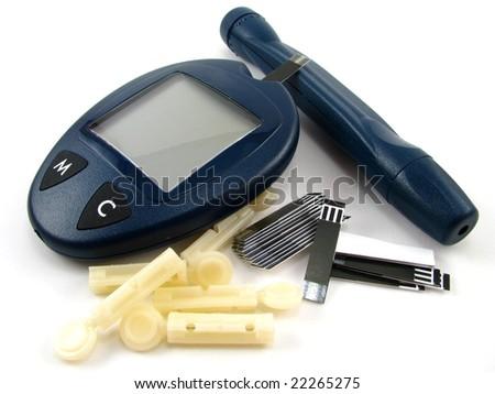 Blood Sugar Testing - stock photo