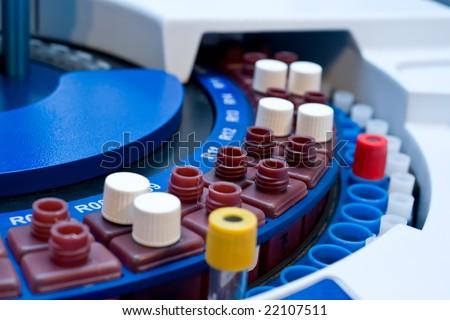 blood test machine - stock photo