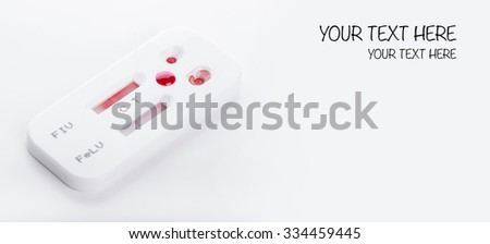 Blood testing virus kit on white. Healthy care concept